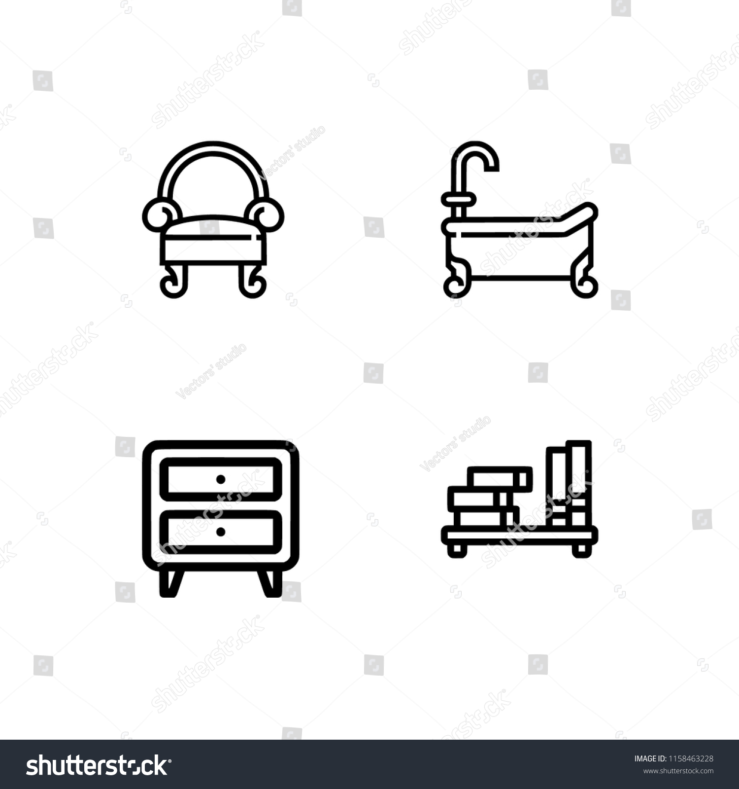 set outline icon eps 10 vector stock vector royalty free