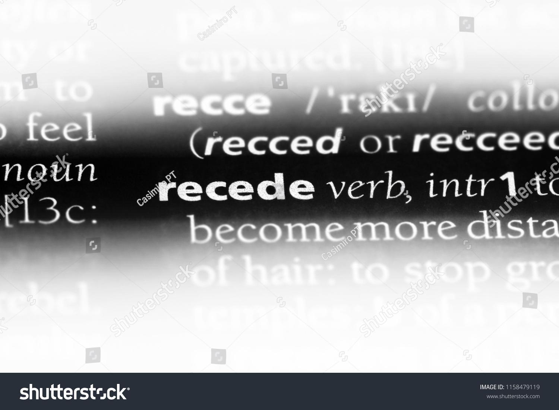 recede word dictionary recede concept stock photo (edit now