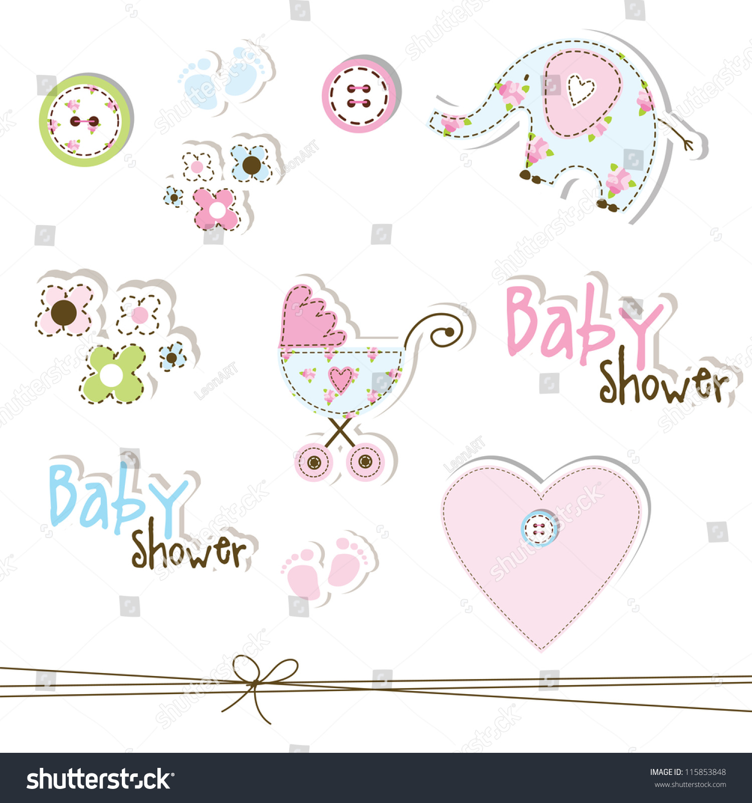 stock photo cute unique baby shower drawings for baby shower