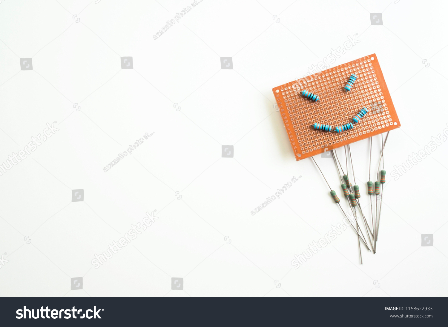 Blank Circuit Board Breadboard Emoji Face Stock Photo Edit Now Boards With Clock Hands Royalty Free Image Shape