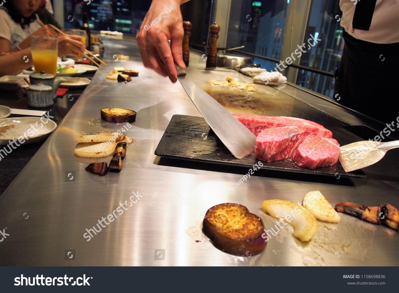 sports shoes 6b62e c2f1a Aug.8.2018, original Teppanyaki Steak Miso s Kobe main store, Sannomiya,  Kobe city