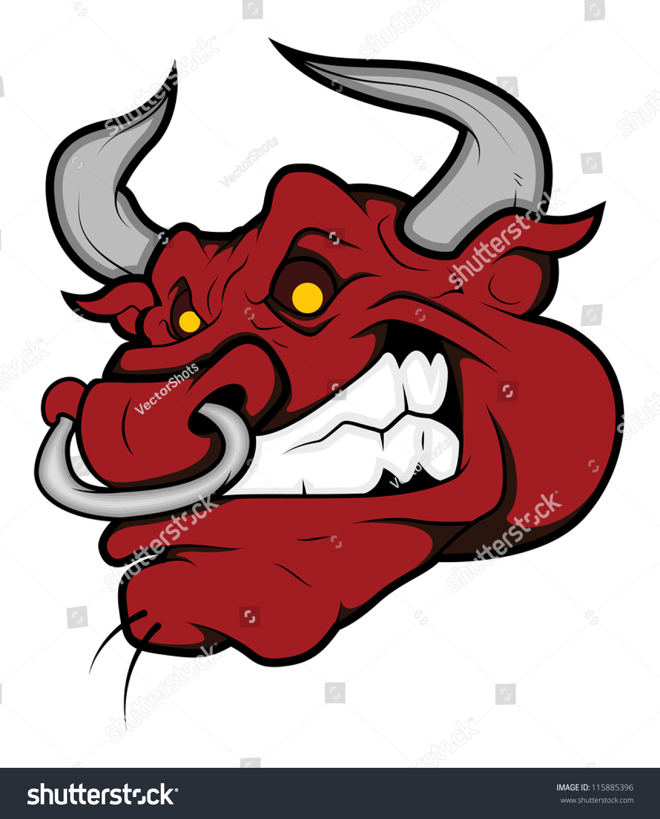angry bull head logo - photo #31