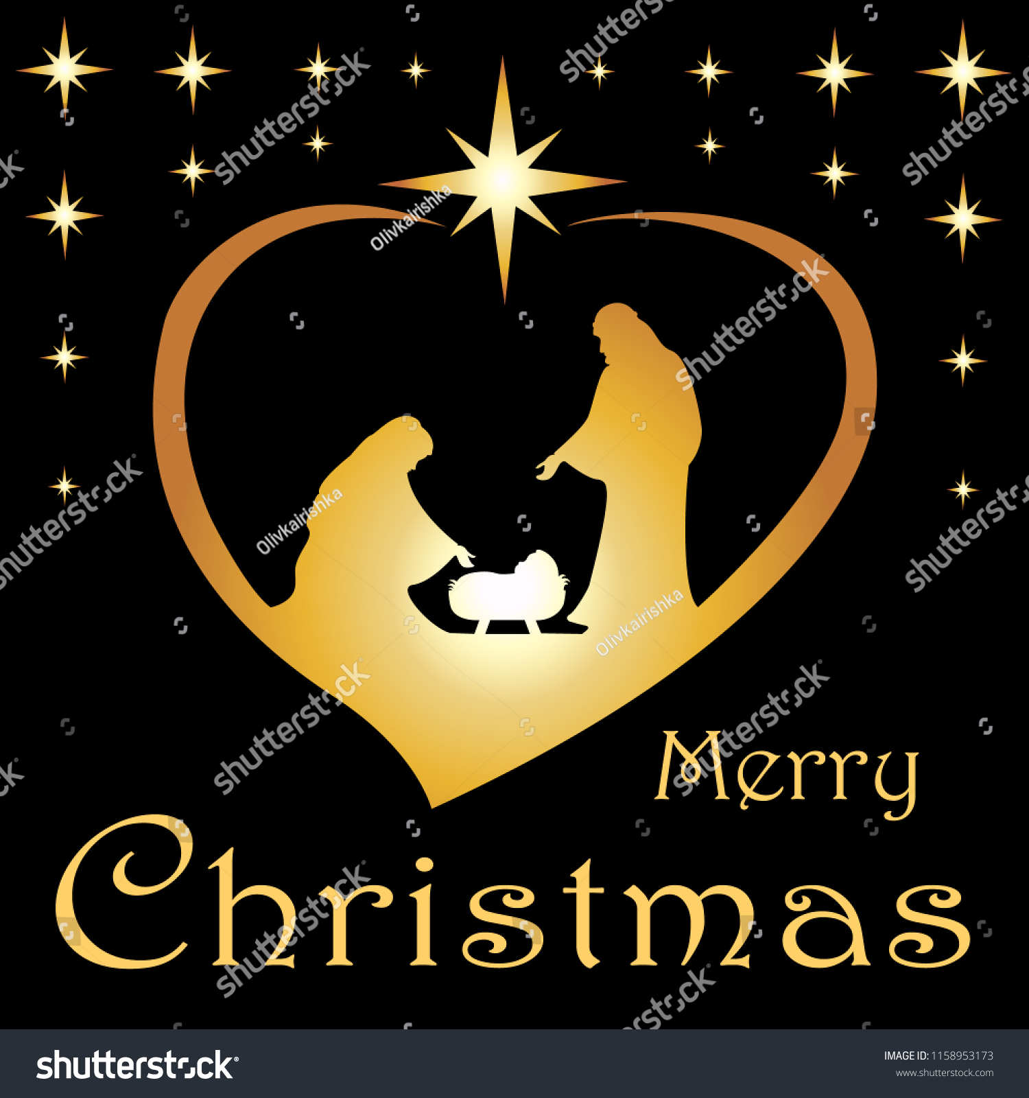 Mary Jesus Christmas Card Christmas Card Christmas Stock Vector ...