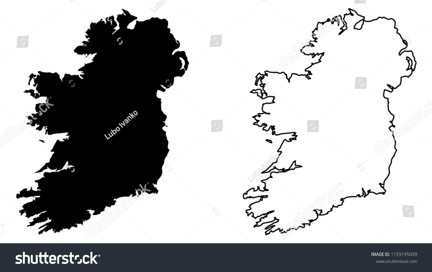 Map Of Ireland Drawing.Simple Only Sharp Corners Map Ireland Stock Vector Royalty Free