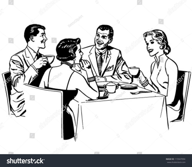 Similiar Group Dinner Clip Art Keywords