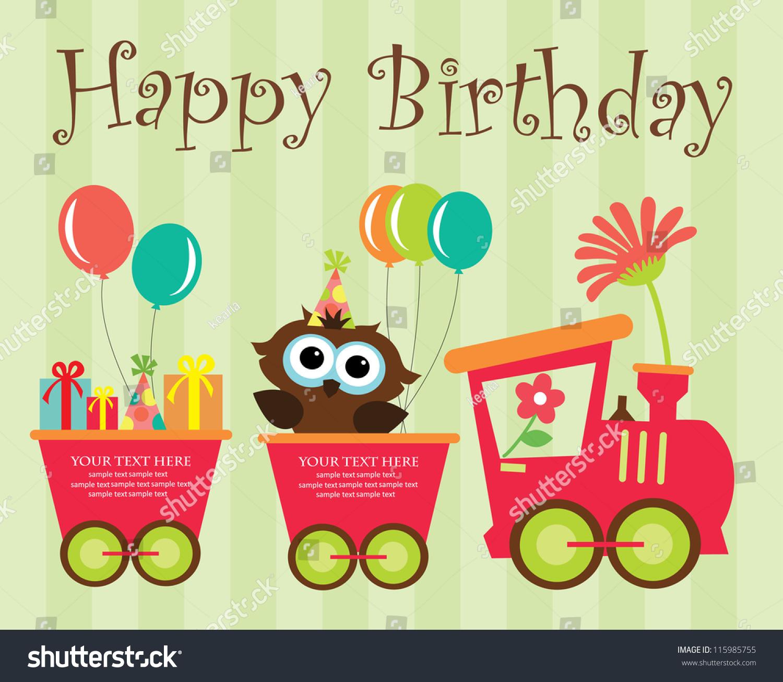 Happy Birthday Card Design Vector Illustration Stock