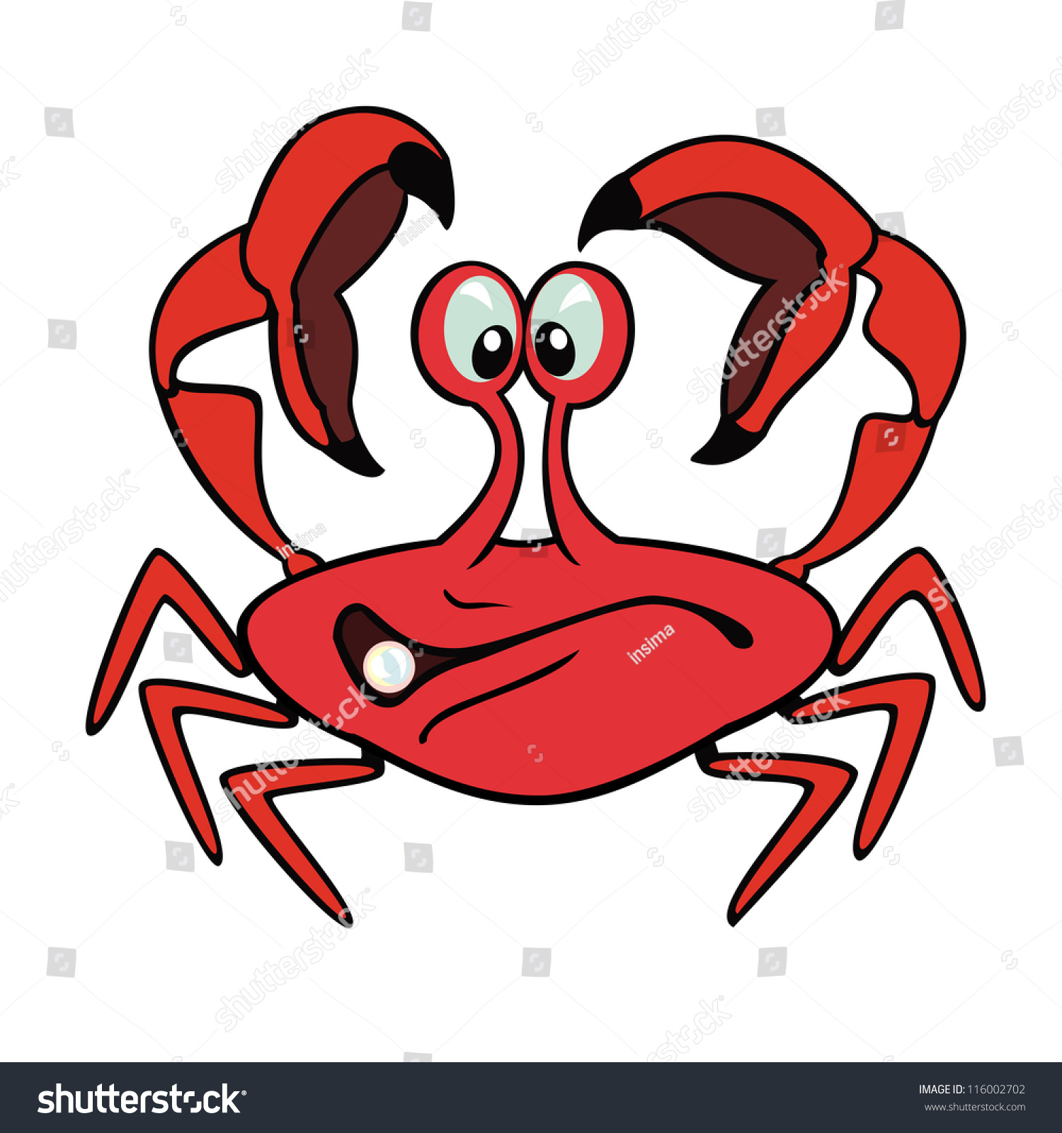 crab cartoonvector image isolated on white stock vector 116002702