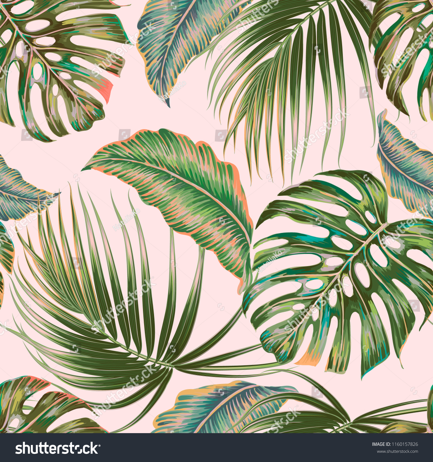 Tropical Palm Leaves Jungle Leaf Vector Stock Vector Royalty Free