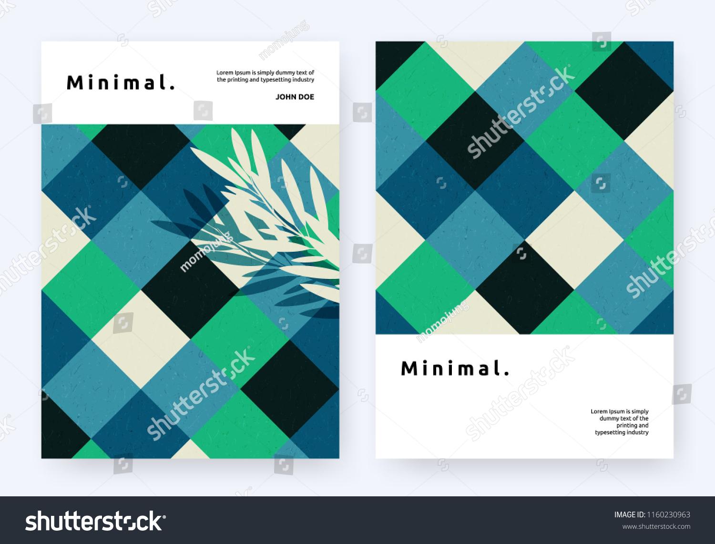 Book Cover Template Design Symmetrical Diamond Stock Vector
