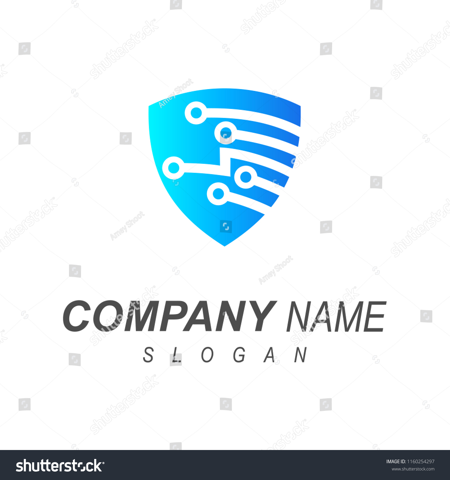 Safety Technology Logo Shield Electronic Circuit Stock Vector Symbols And Symbol