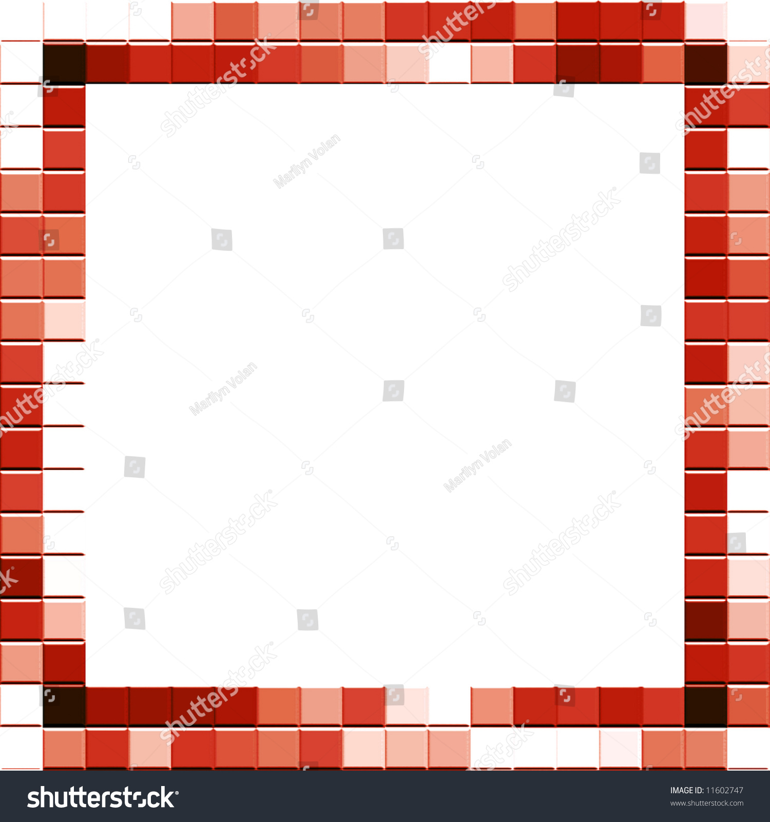 Mosaic Tile Frame Stock Illustration - Royalty Free Stock ...