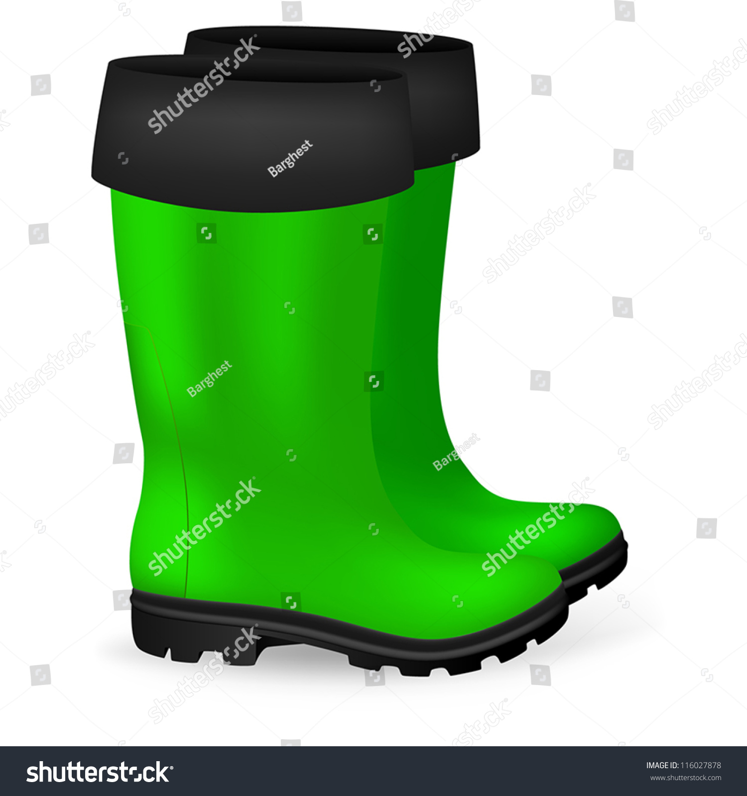 Blank safety rubber boots template stock vector royalty free blank safety rubber boots template maxwellsz