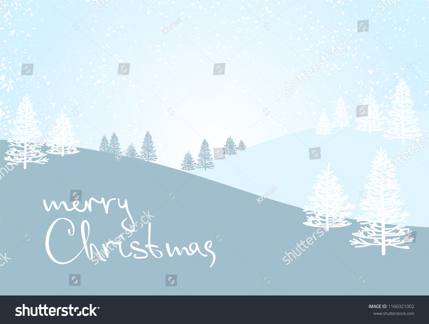 christmas and new year card background template vector illustration