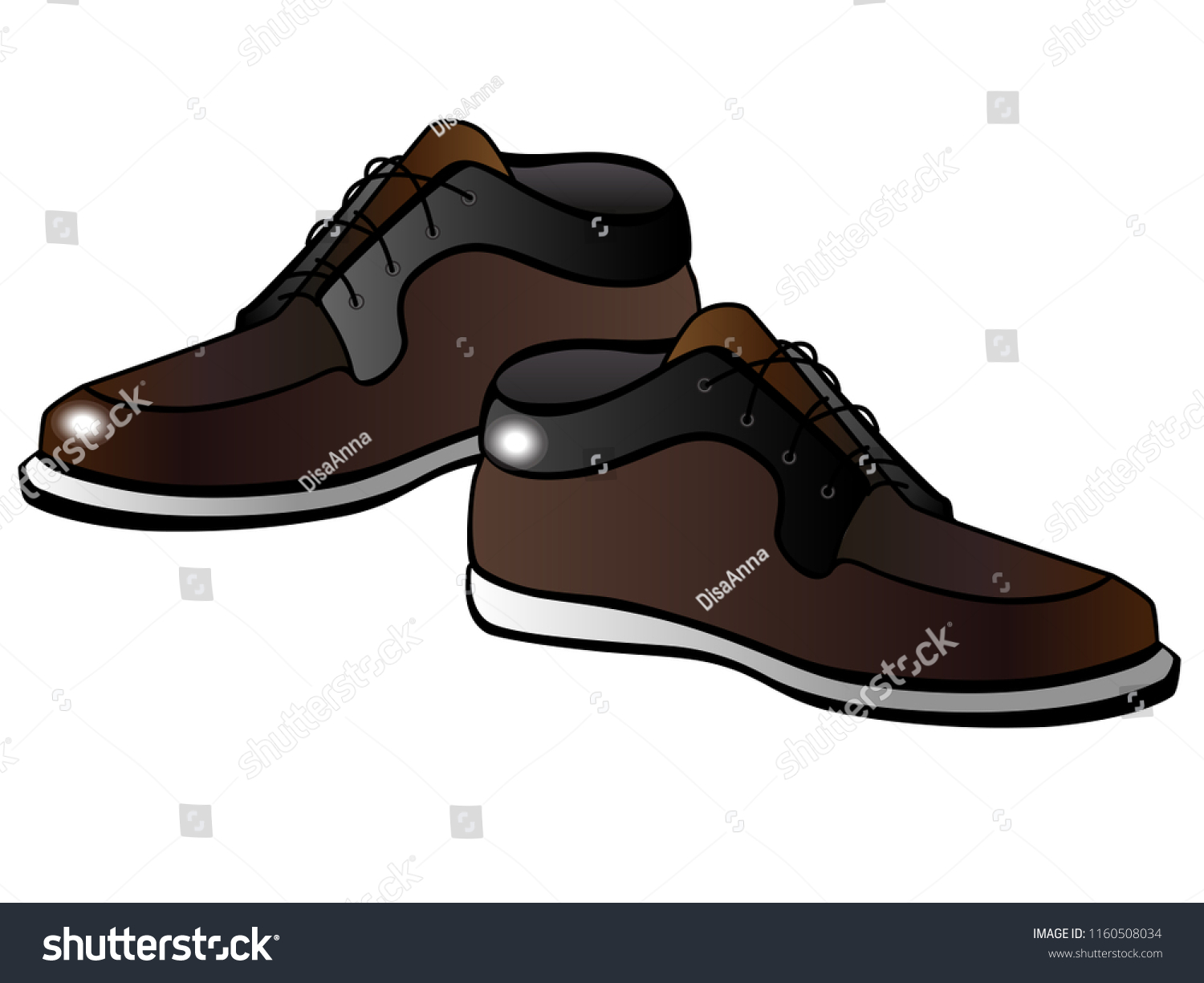 latest fashion best place cheapest price Mens Brown Boots White Sole Male | Royalty-Free Stock Image