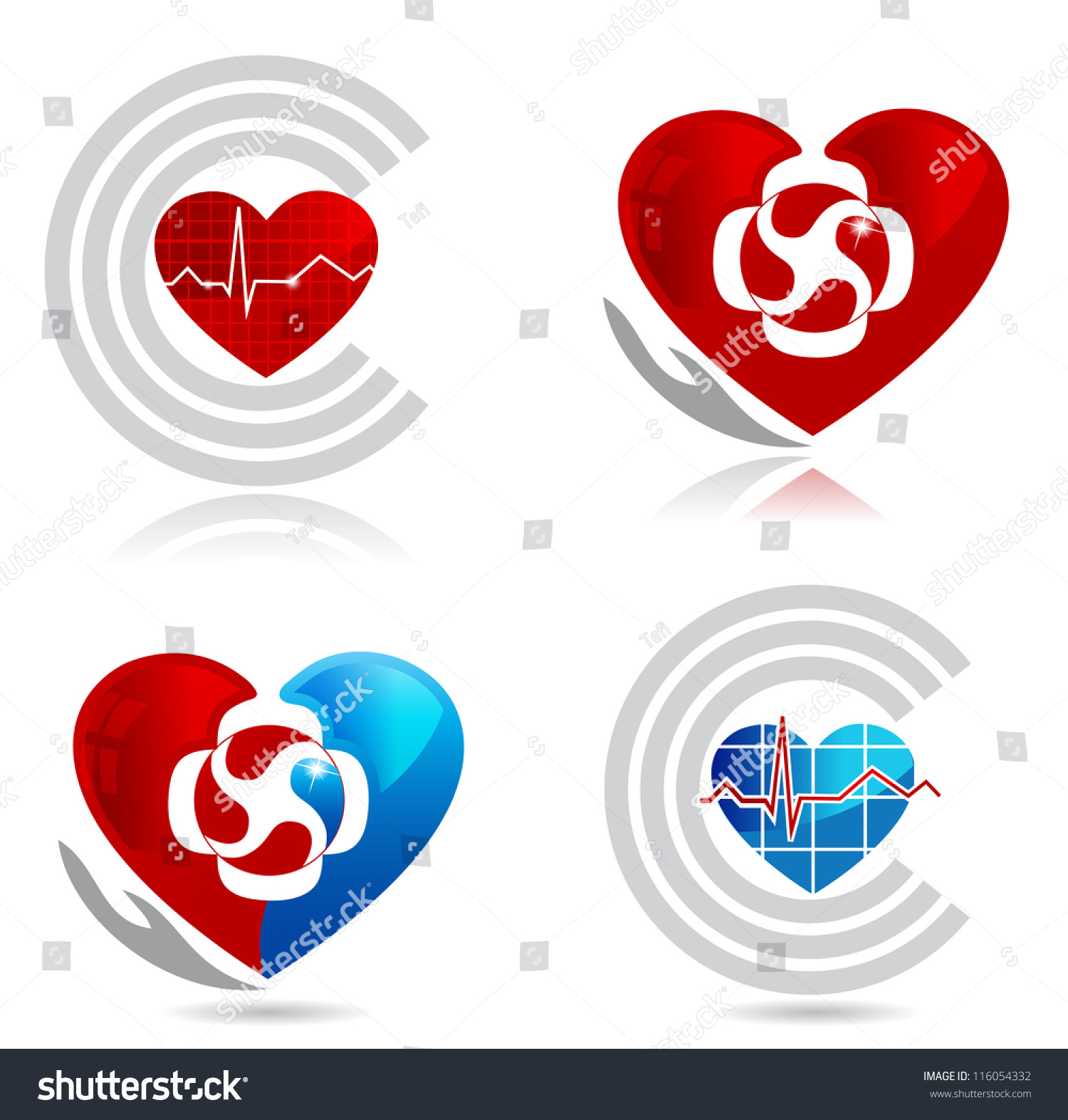 Cardiology medical healthy heart symbols heart stock vector cardiology medical and healthy heart symbols the heart symbolizes blood circulation in the heart biocorpaavc Choice Image