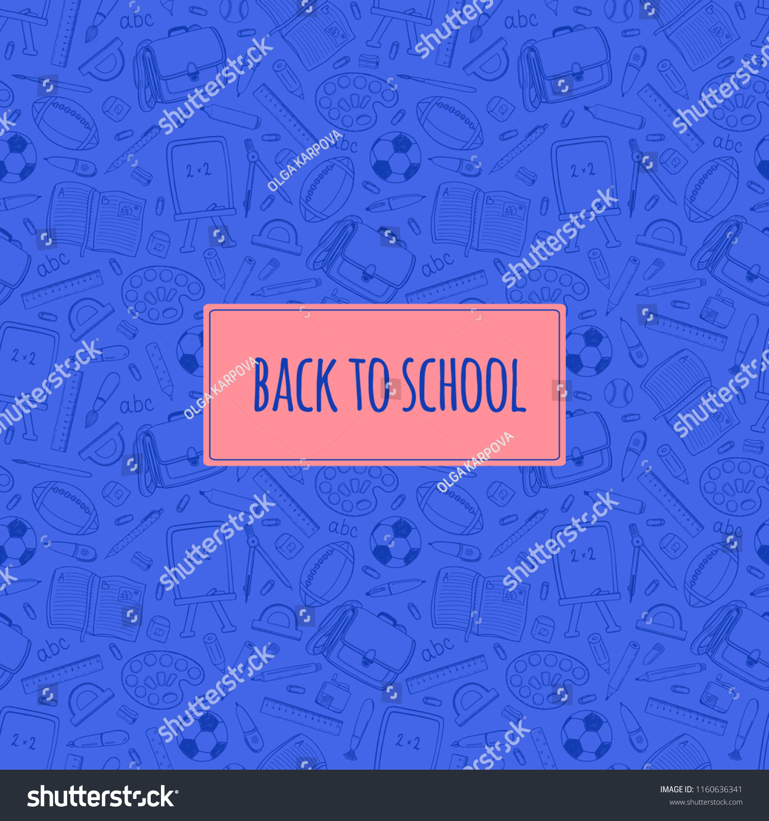 education pattern banner cover poster advertisement stock vector