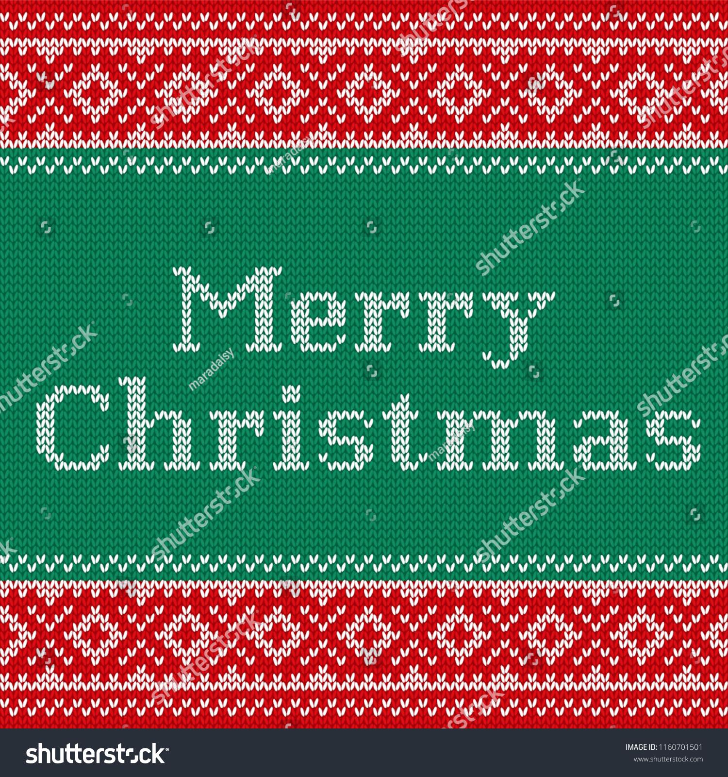 12d724a32 Christmas Knitting Pattern Knit Seamless Design Stock Vector ...