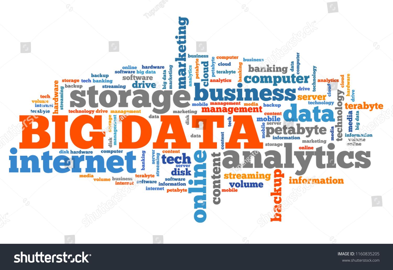 Big Data Market Information Analytics Concept Stock