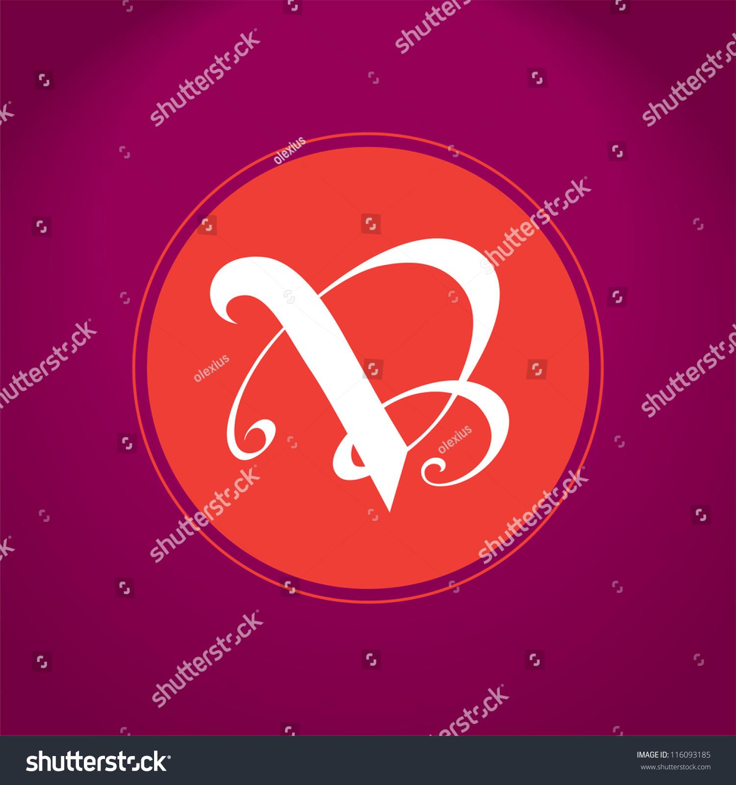 Writing V And B, Vb Letters Emblem Illustration, Sign, Symbol, Logo ...