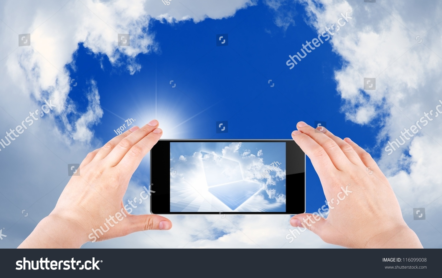 Technology Background Cloud Computing Augmented Reality ...