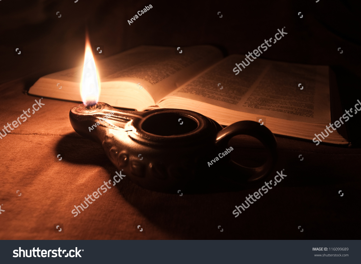 lamp and bible - photo #26