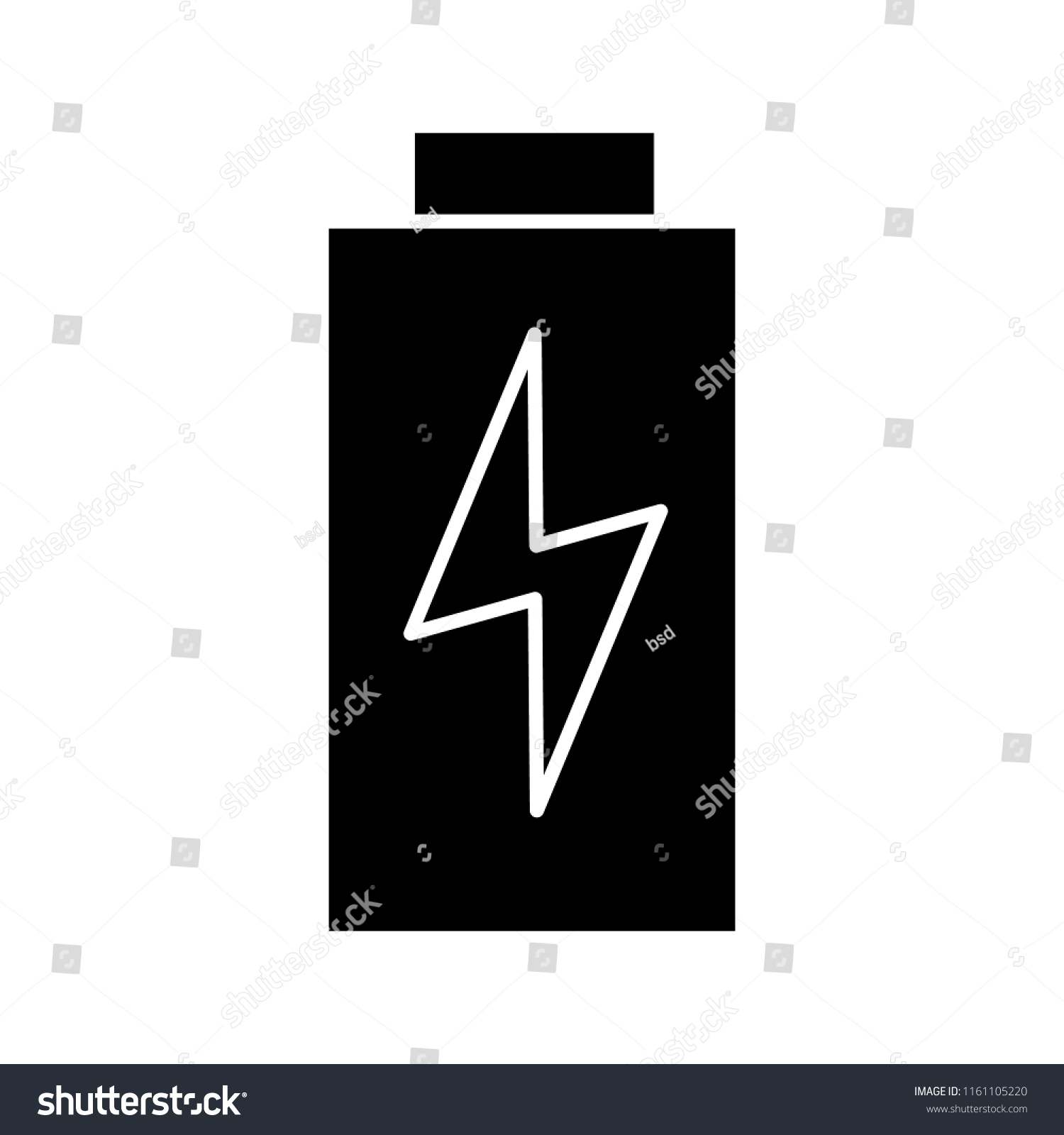 Battery Charging Glyph Icon Level Stock Vector Royalty Free Indicator Silhouette Symbol
