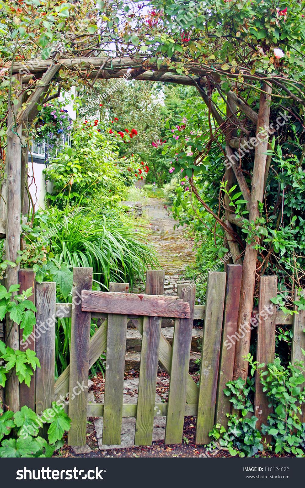 Delightful Rustic Garden Gate