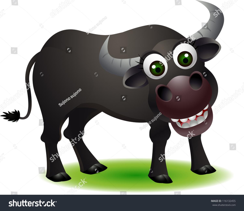 Cute Buffalo Cartoon Vector de stock116132455: Shutterstock