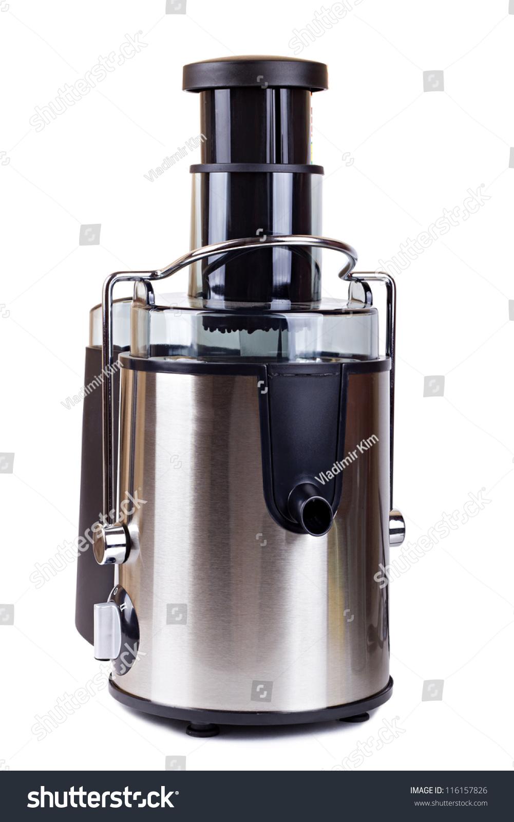 Electric Juice Extractor ~ Electric juice extractor isolated on white stock photo