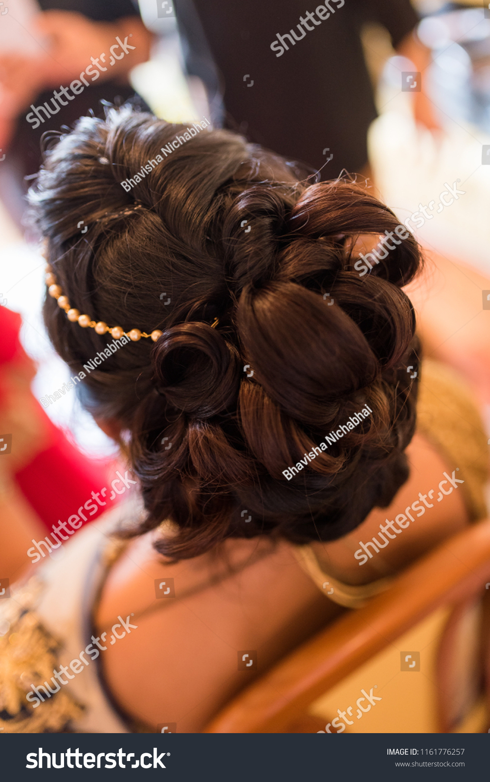 Beautiful Hairstyle Engagement Party Stock Photo Edit Now 1161776257