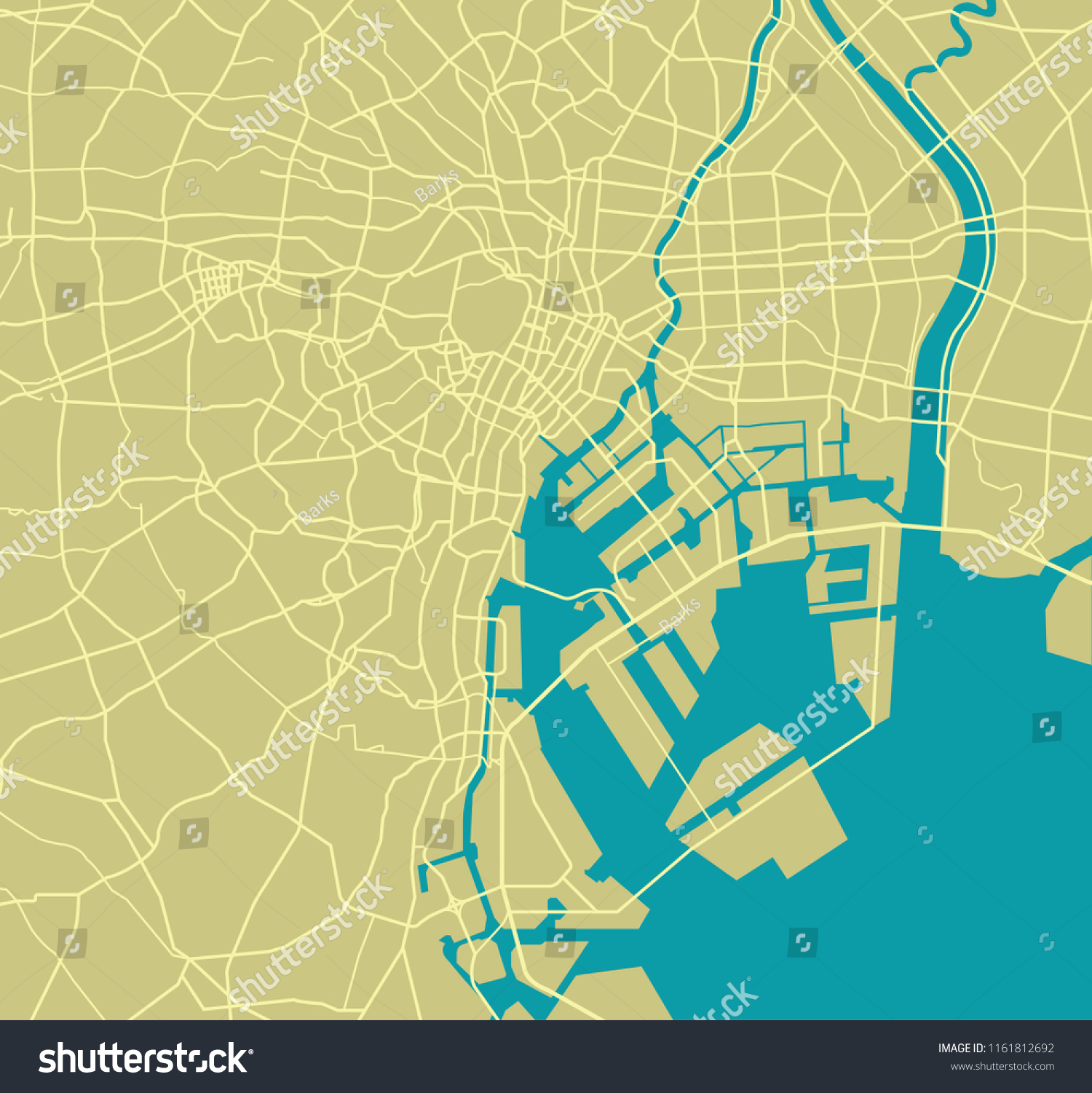Tokyo Bay Area Road Map Stock Vector Royalty Free 1161812692 California highway history as seen through highway and planning maps. shutterstock