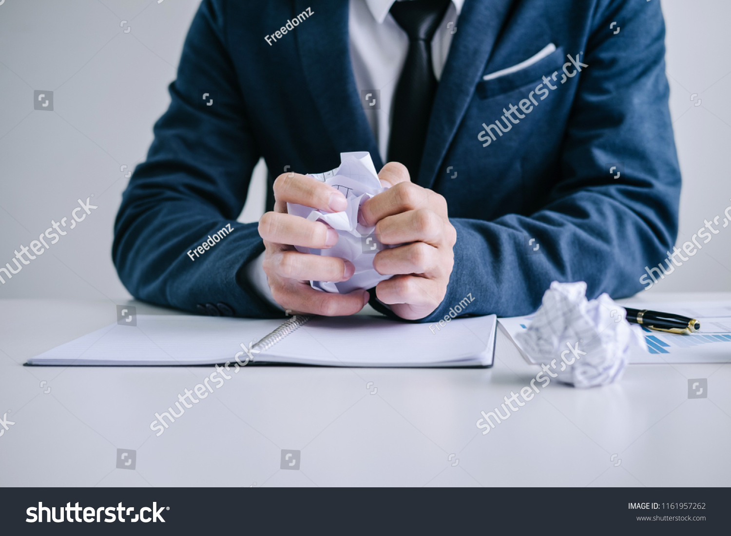 Feeling Sick Tired Businessman Depressed Exhausted Stock