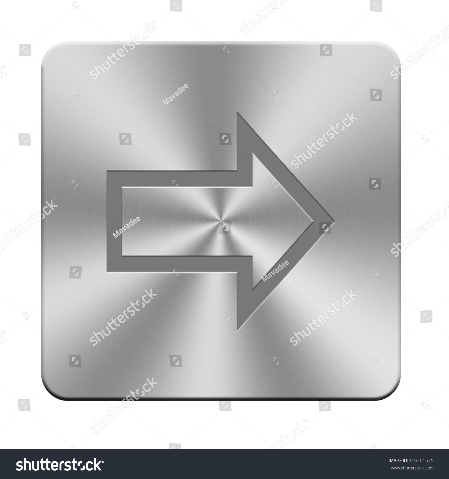 Letters Sign Symbol On Aluminium Buttons Stock Illustration