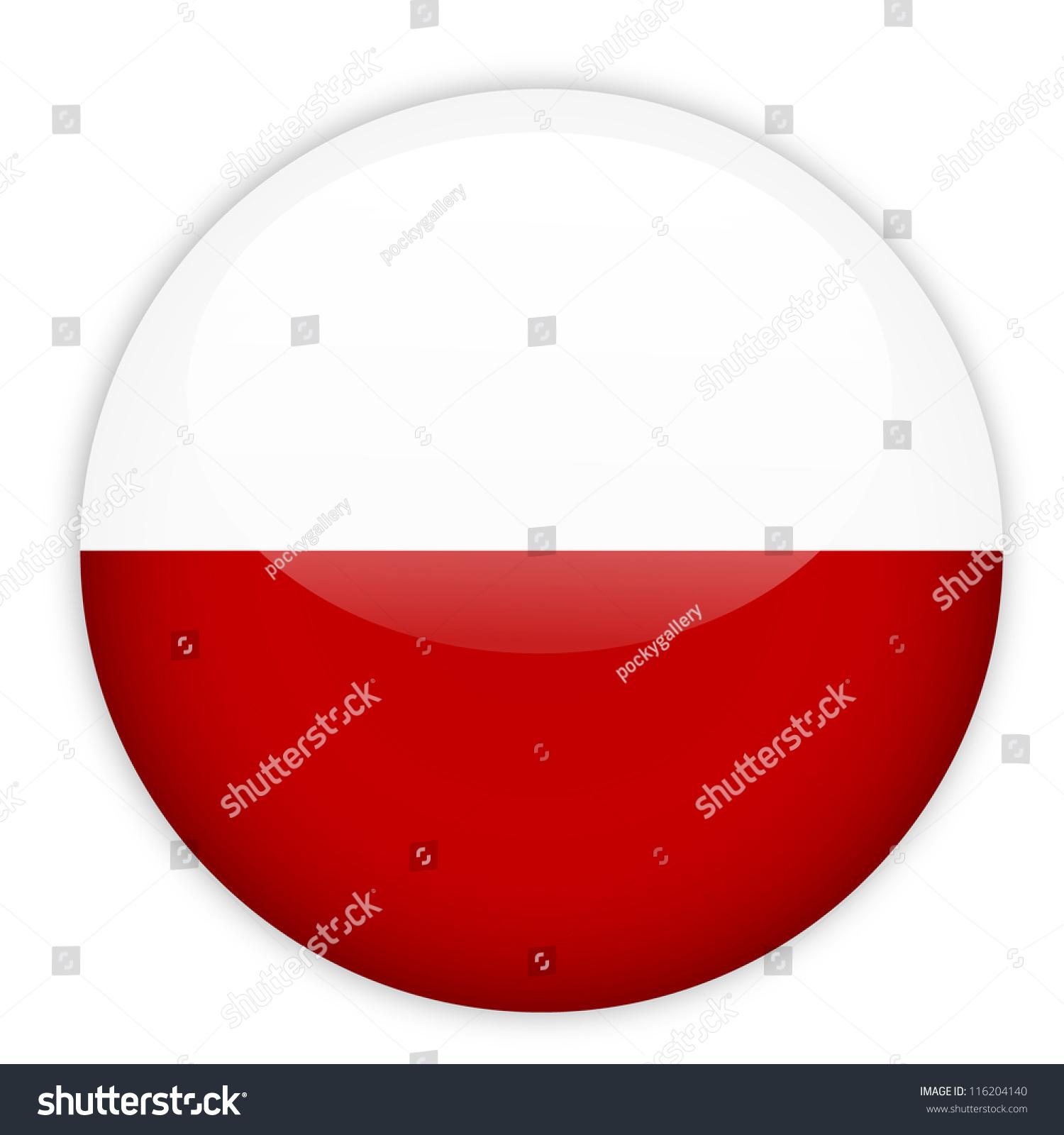 poland flag button on white stock vector 116204140 shutterstock