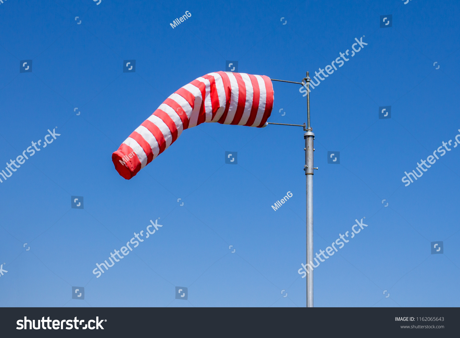 Windsock Flag Wind Speed Meter Red Stock Photo Edit Now 1162065643