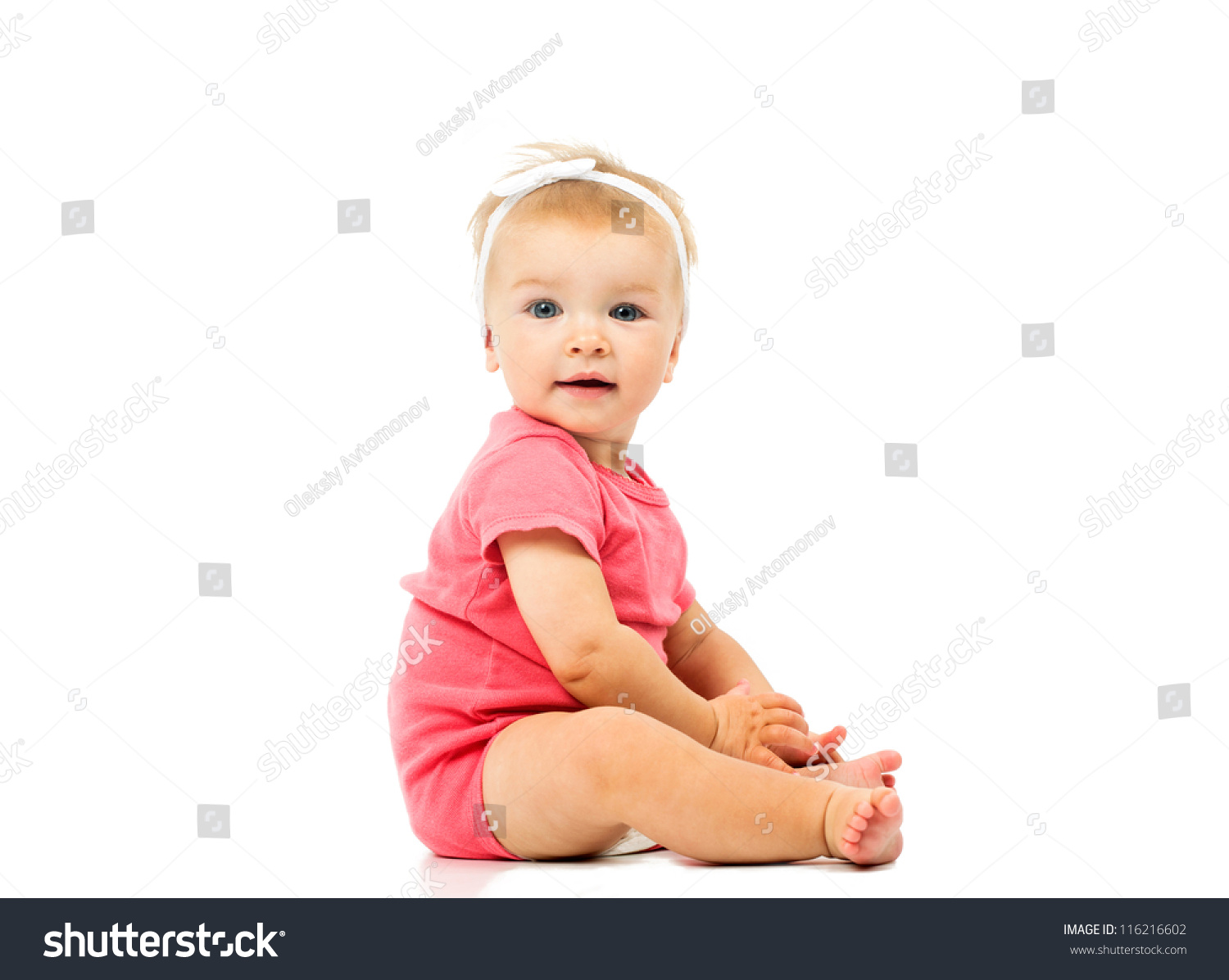 little cute baby pink dress isolated stock photo (royalty free