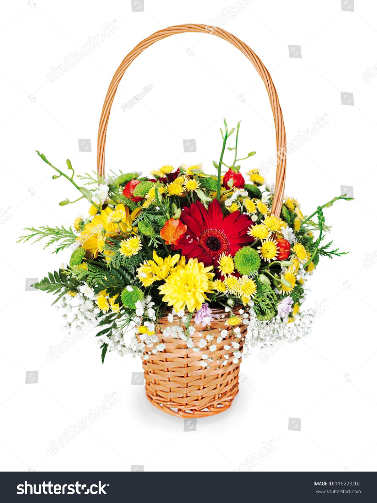 Colorful flower bouquet arrangement centerpiece in a