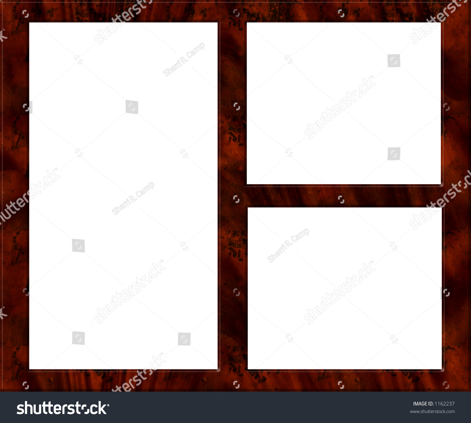 Wooden Picture Frame Multiple Images Photos Stock Illustration ...