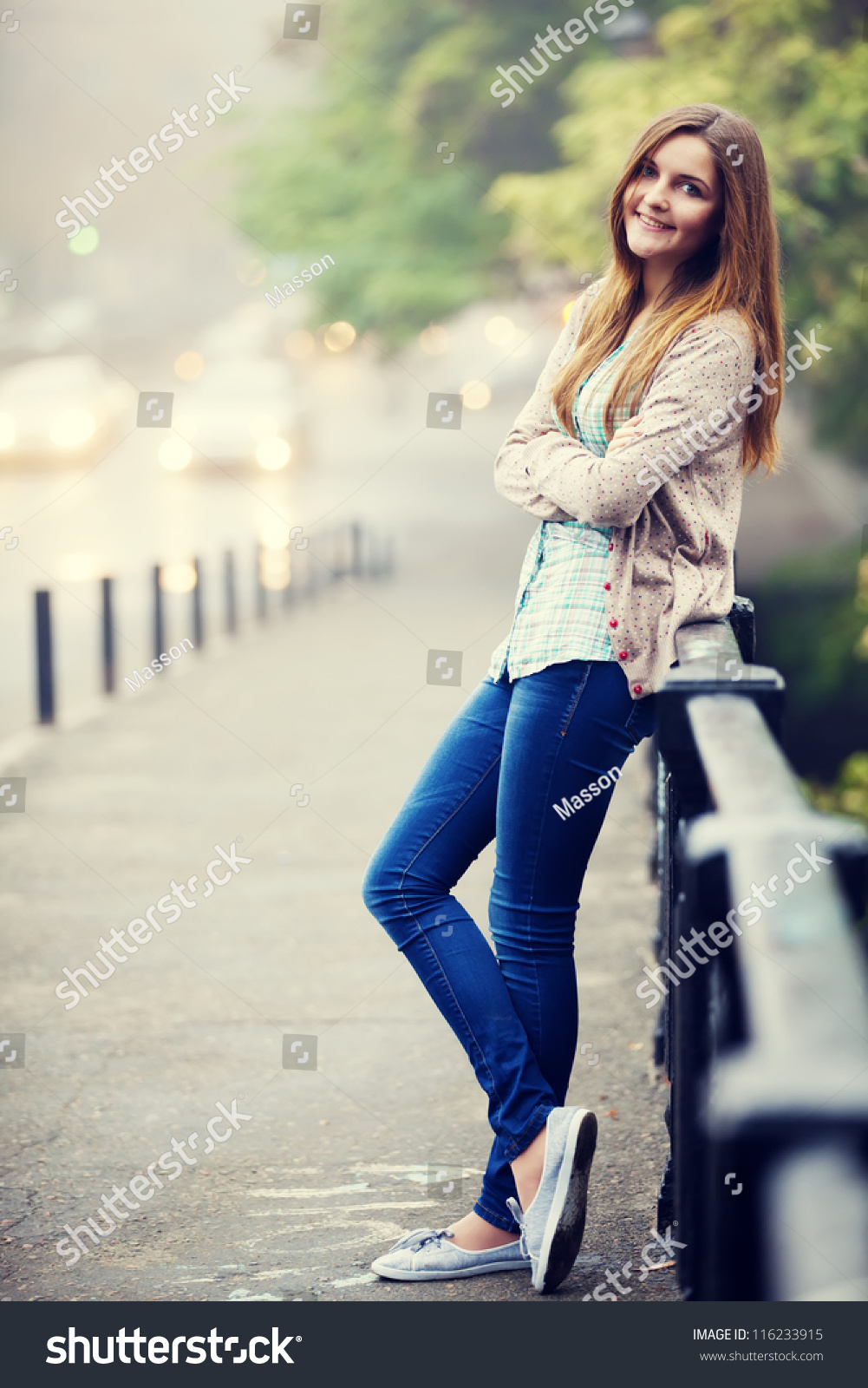 Style Teen Girl Street Stock Photo 116233915