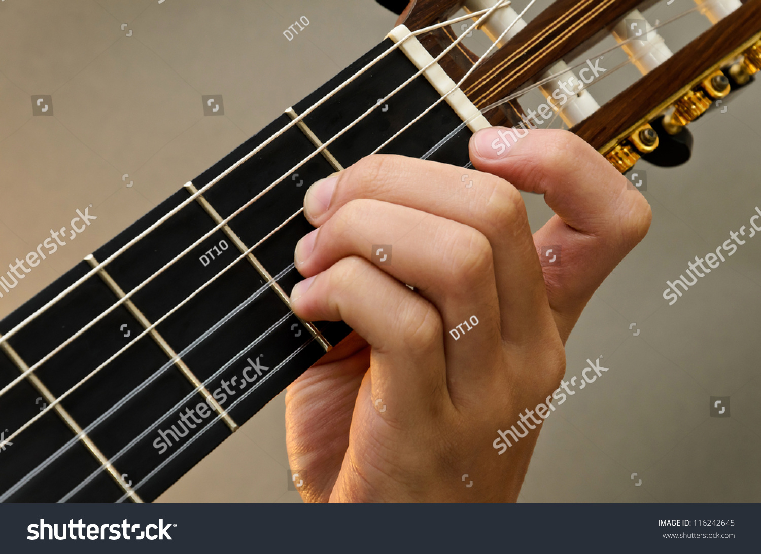 Left Hand Position Basic Chord Classic Stock Photo Edit Now