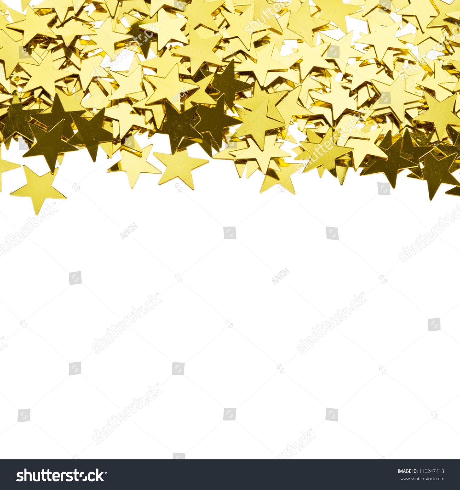Stars Gold Confetti , Frame Of The Yellow Brilliant Small