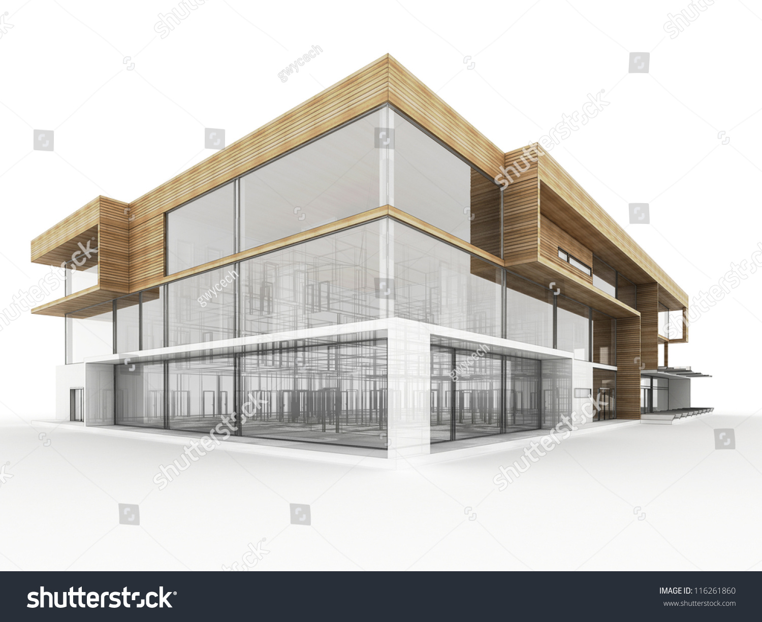 Design modern office building architects designers stock for Modern small office building design