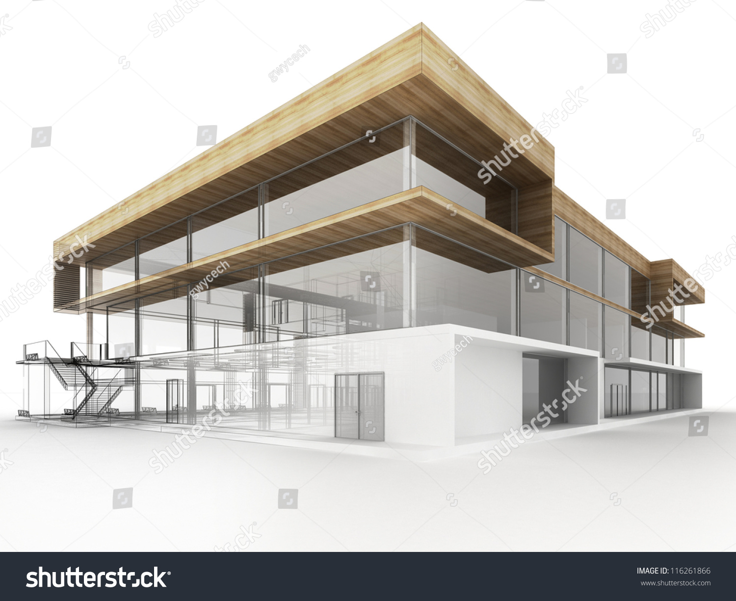 Design Modern Office Building Architects Designers Stock