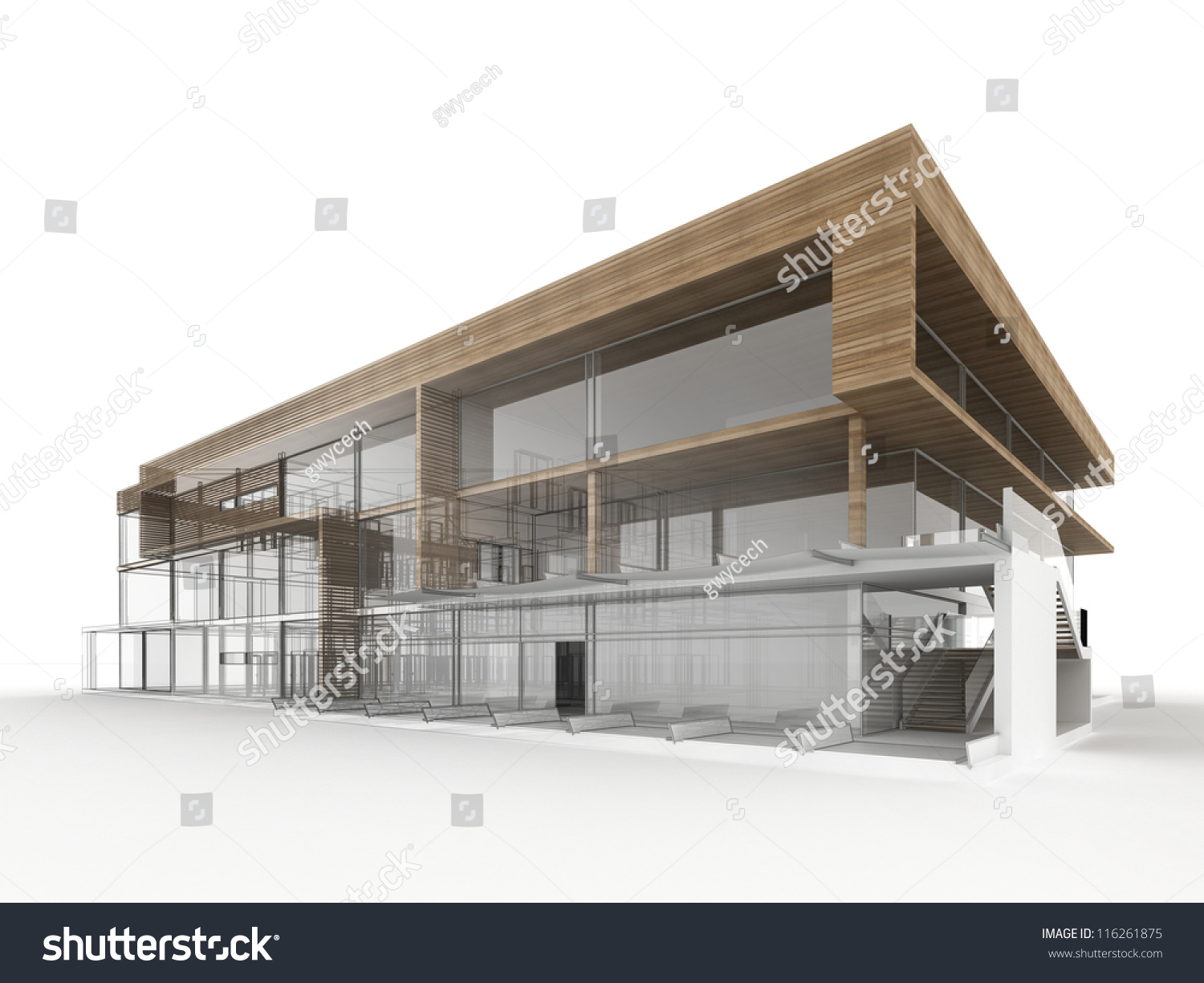 Design modern office building architects designers stock for Office building plans and designs