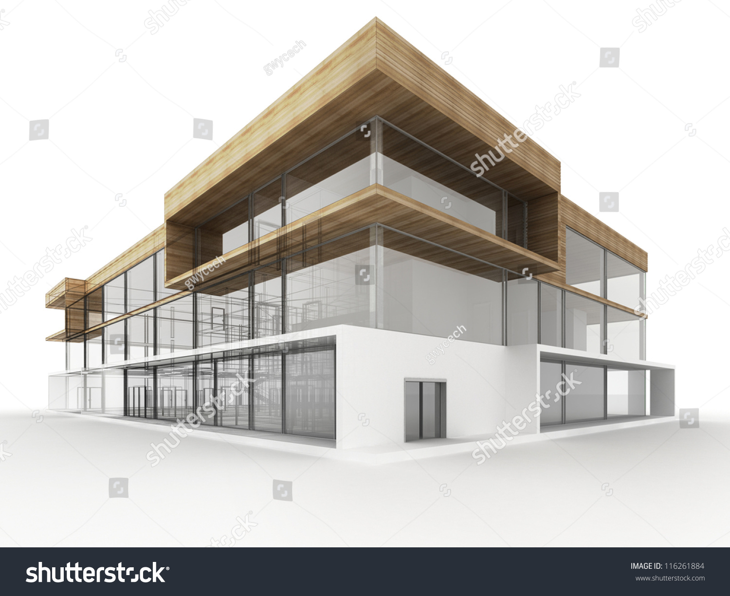 Design modern office building architects designers stock for Exterior design office buildings