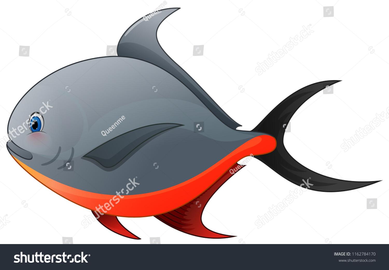Vector De Stock Libre De Regalias Sobre This Picture Shows Cute Bawal Fish1162784170