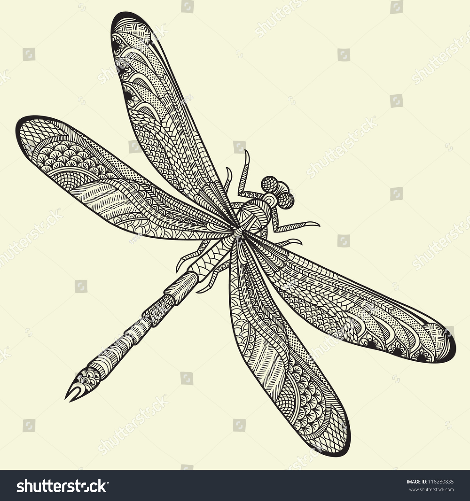 abstract design dragonfly stock vector 116280835 shutterstock