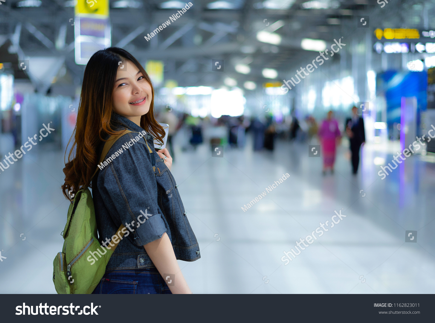 Traveling Concept Traveler Women Wearing Jeans Stock Photo Edit Now