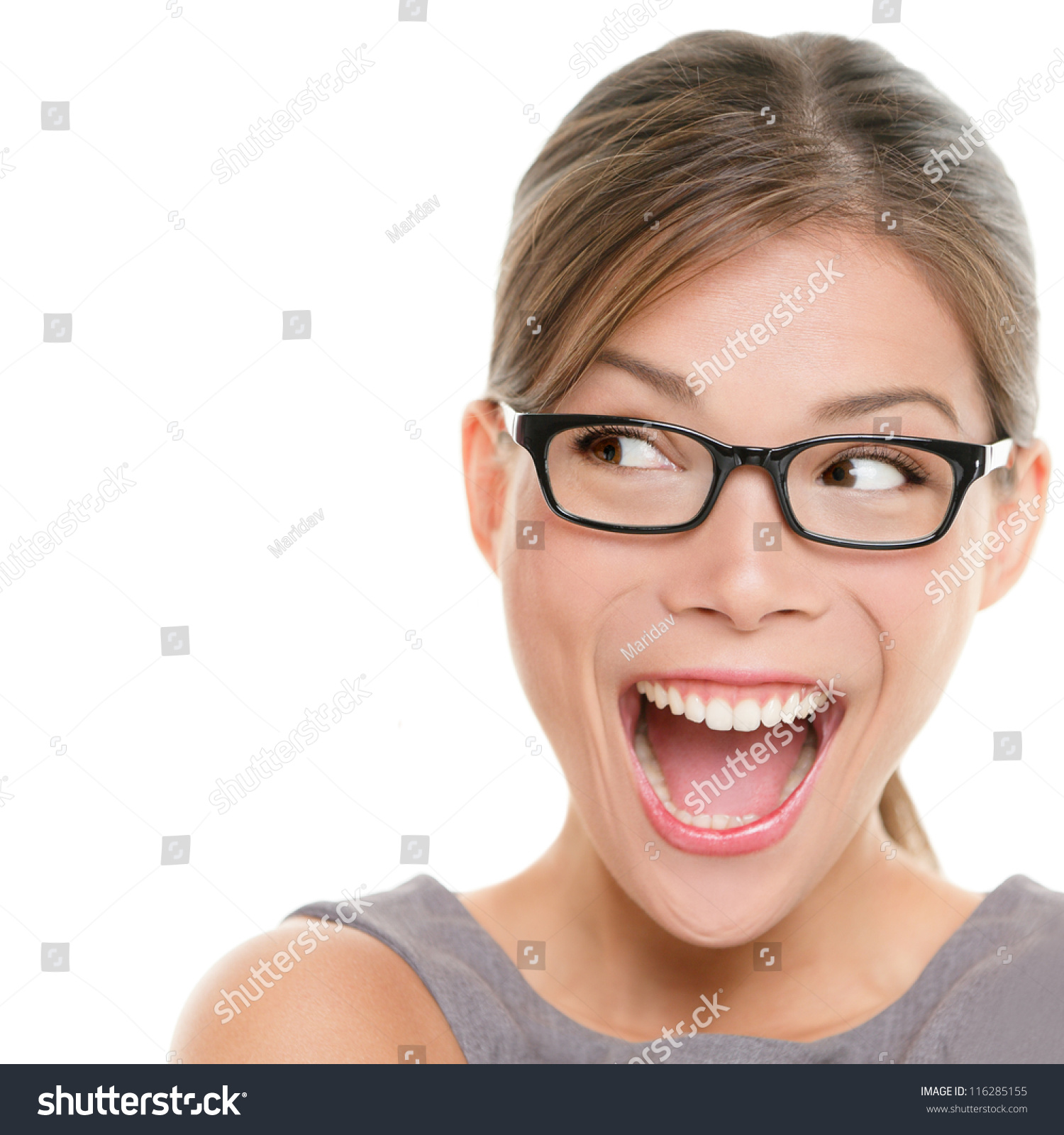 Excited People Faces h...