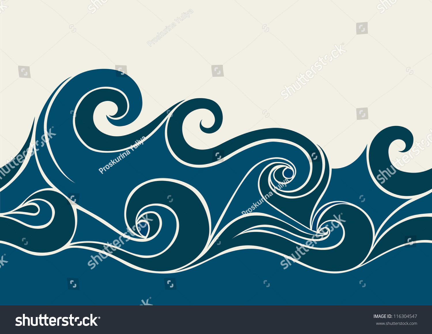 Abstract Background With Stylized Wave Stock Vector